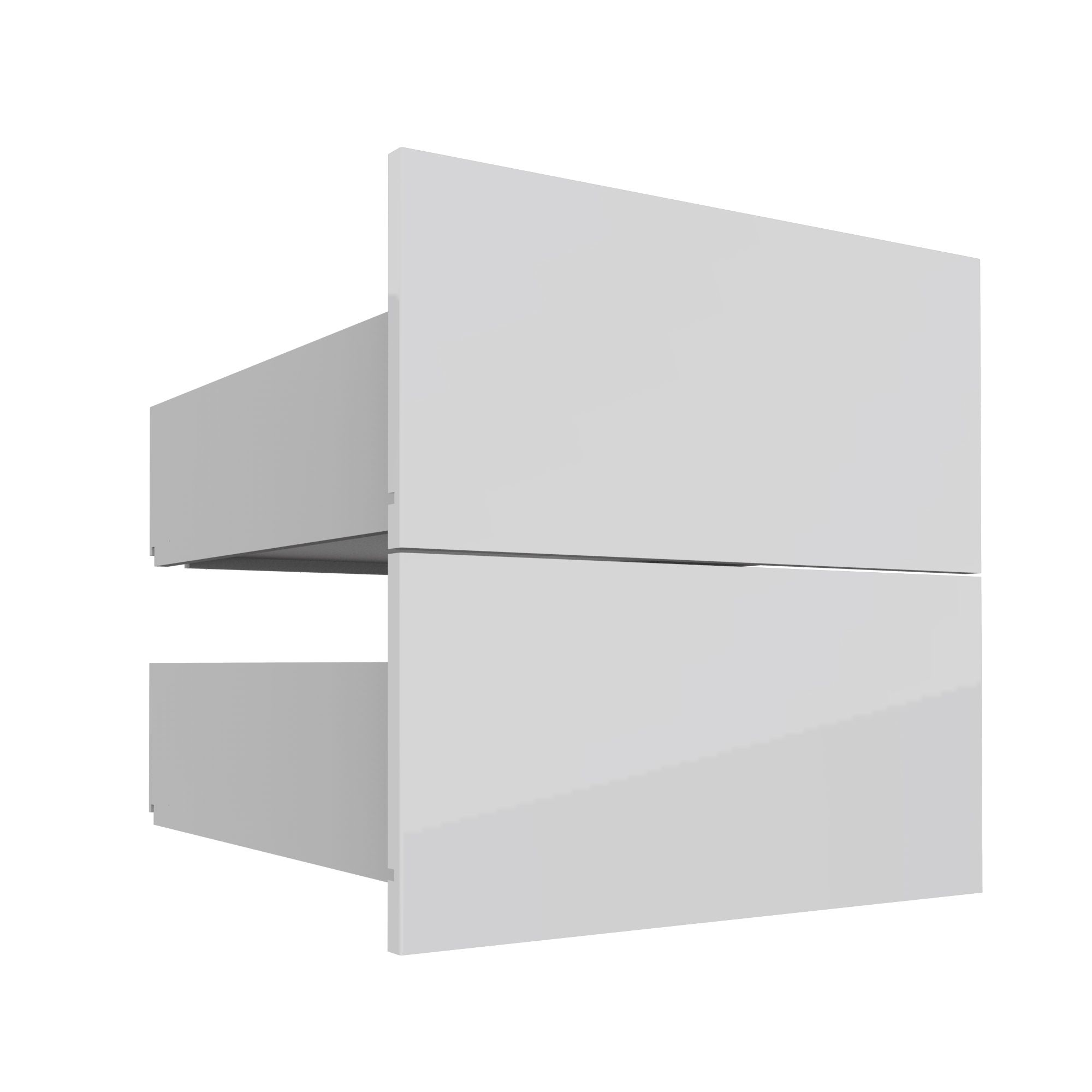 Darwin Modular White & Gloss External Drawers (h)237mm (w)500mm (d)566mm