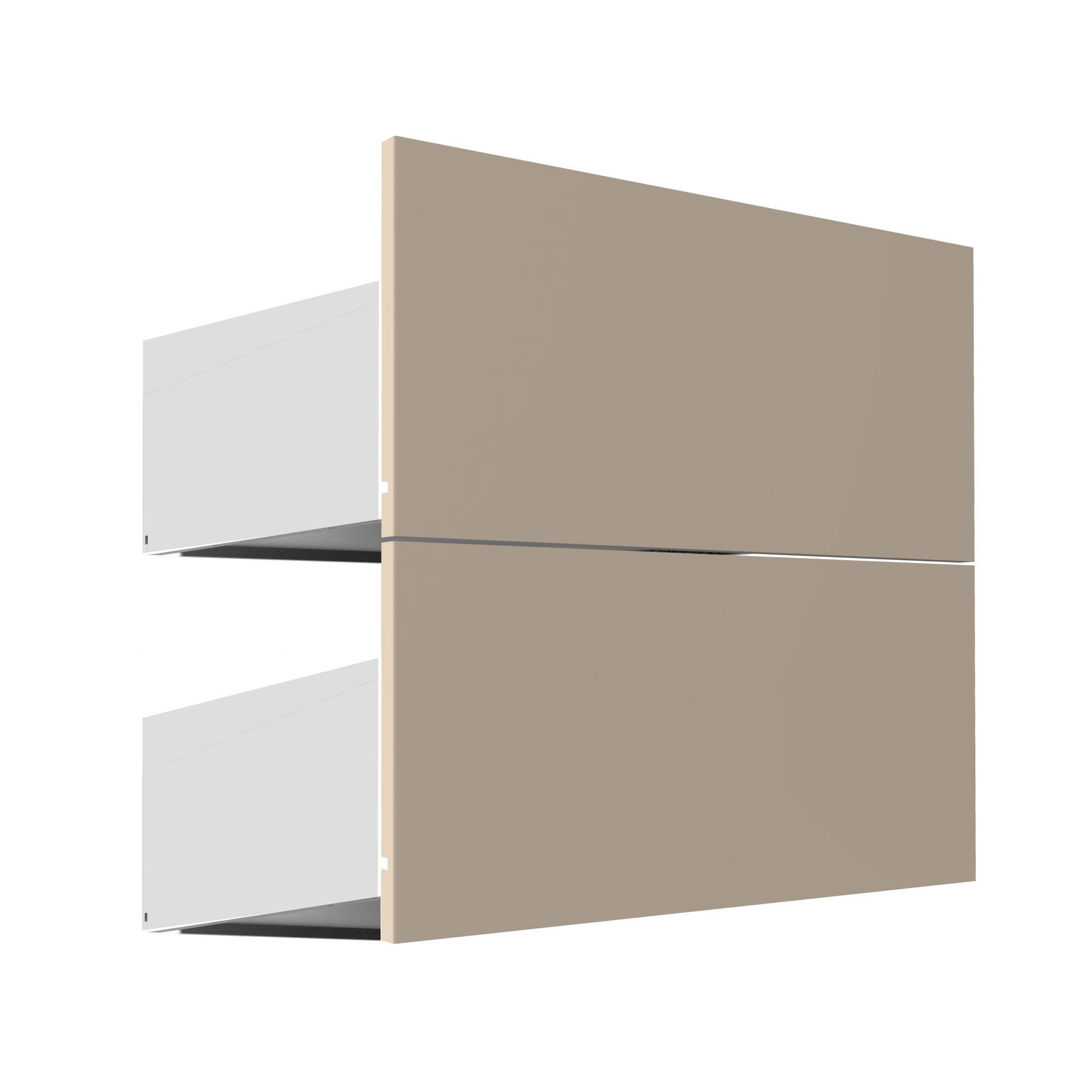 Darwin Modular Cream & Gloss External Drawers (h)237mm (w)500mm (d)566mm