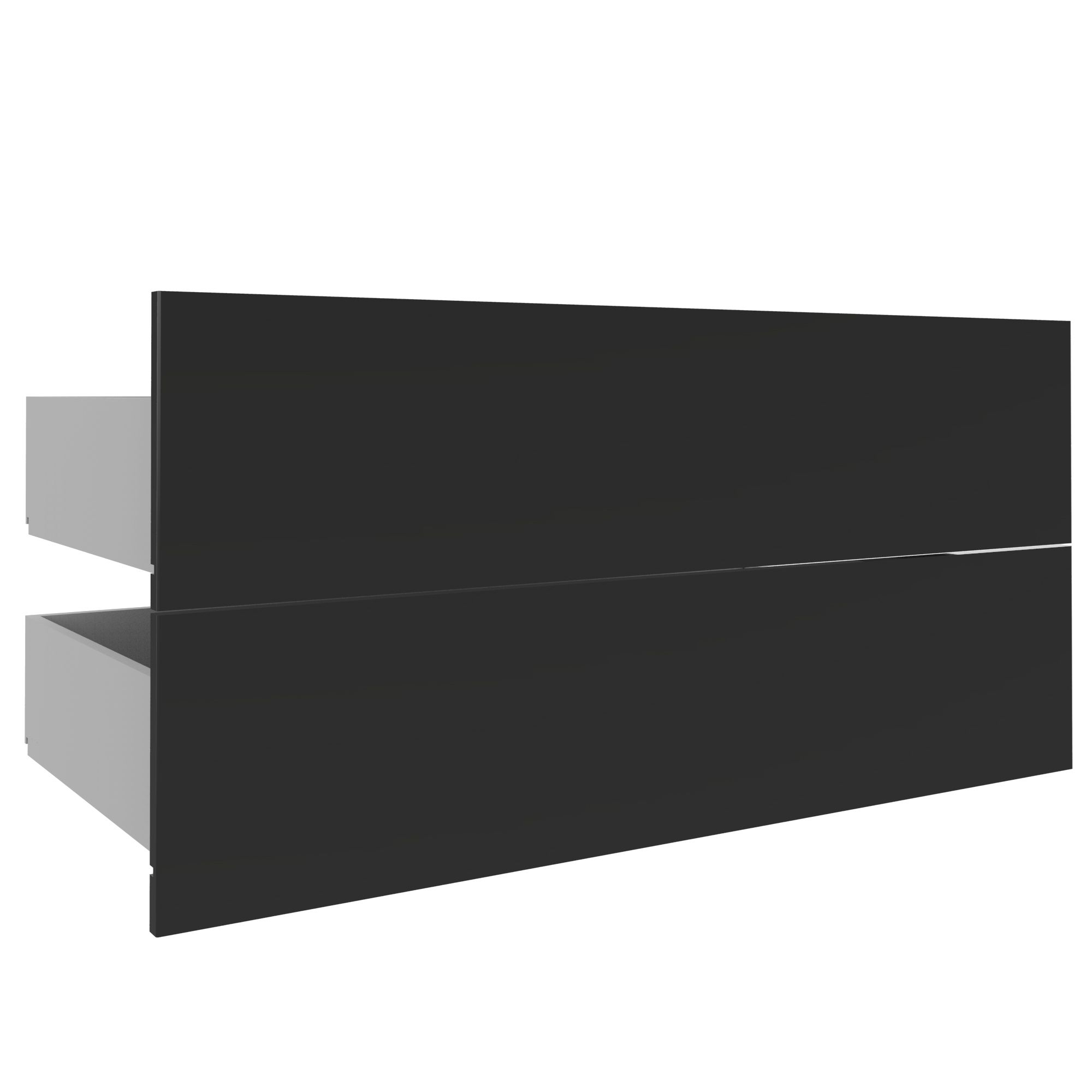 Darwin Modular Anthracite External Drawers (w) 1000mm (d) 514mm, Pack Of 2
