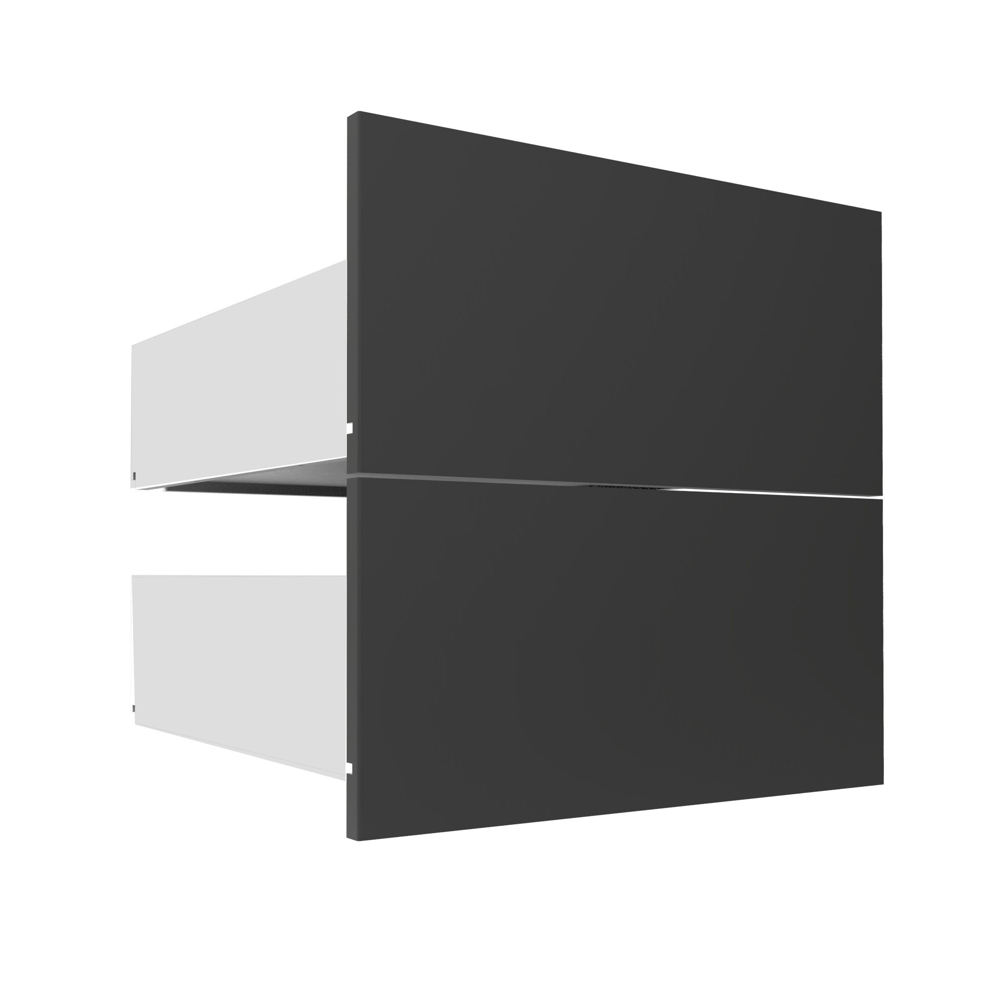 Darwin Modular Anthracite External Drawers (w) 500mm (d) 514mm, Pack Of 2