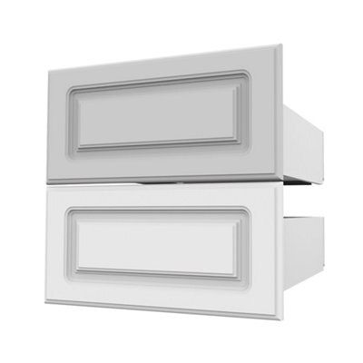 Darwin Modular White & Matt External Drawers (h)237mm (w)500mm (d)566mm