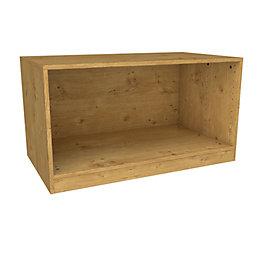 Darwin Modular Oak Effect Bedside Cabinet (H)546mm (W)1000mm
