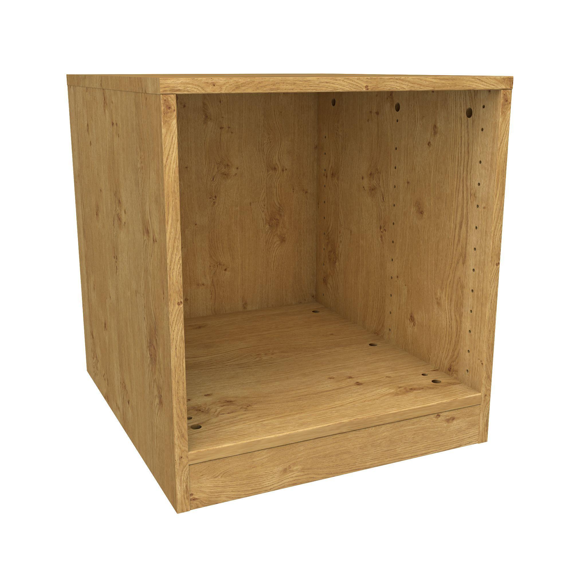 Darwin Modular Oak Effect Bedside Cabinet (h)546mm (w)500mm (d)566mm