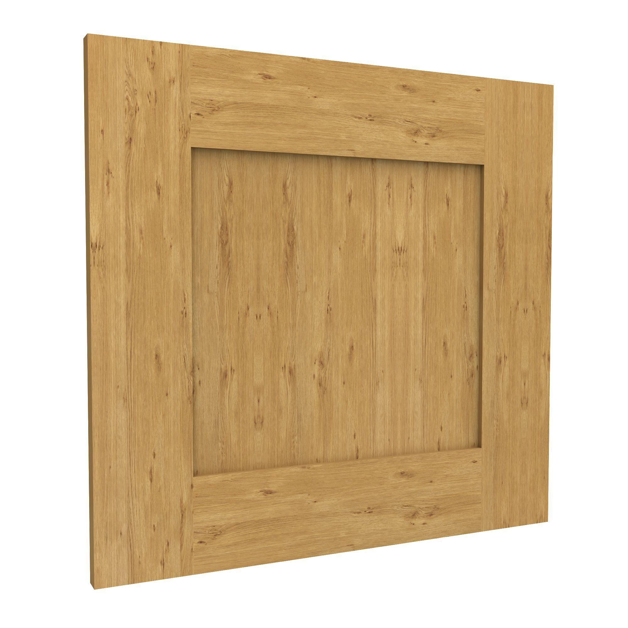 Darwin Modular Oak Effect Bedside Cabinet Door (h)478mm (w)497mm