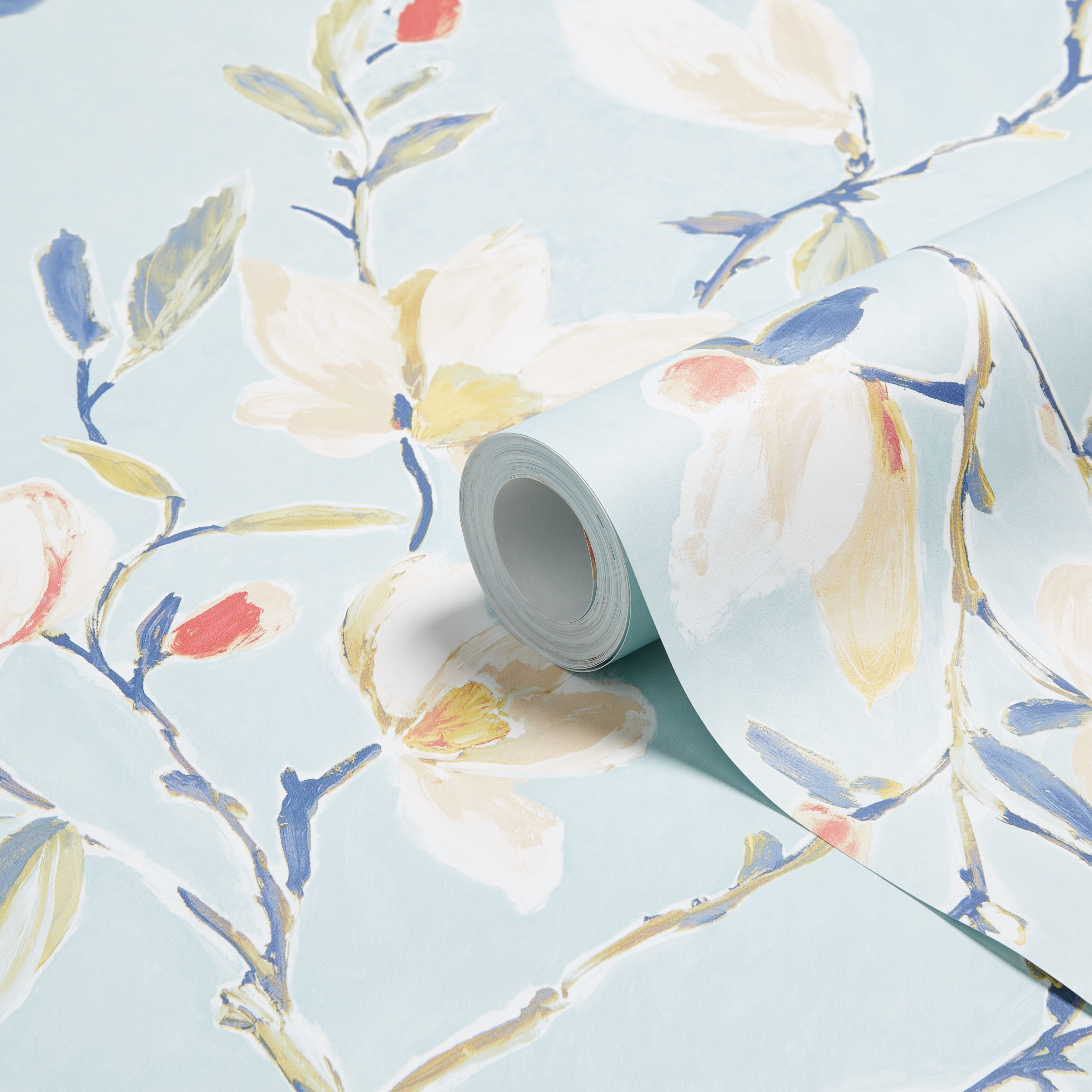Colours Leona Teal Floral Wallpaper