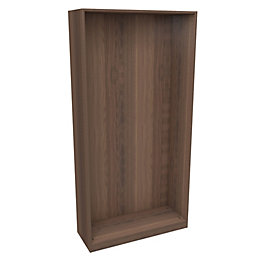 Darwin Modular Walnut Effect Narrow Cabinet (H)2004mm (W)1000mm