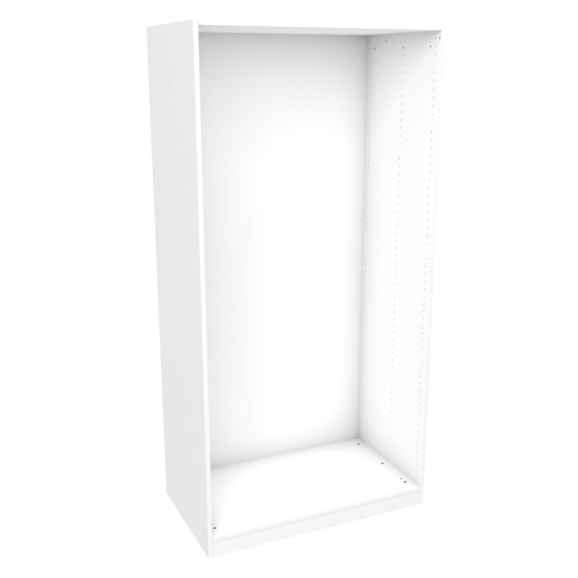 Darwin Modular White Wardrobe Cabinet (h)2004mm (w)1000mm (d)566mm
