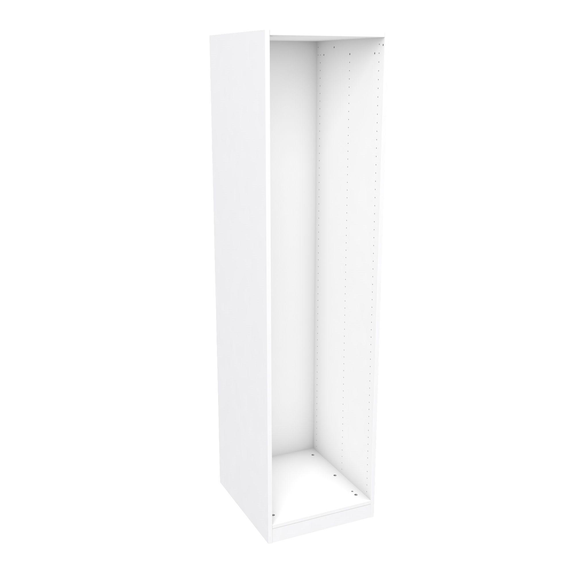 Darwin Modular White Wardrobe Cabinet (h)2004mm (w)500mm (d)566mm