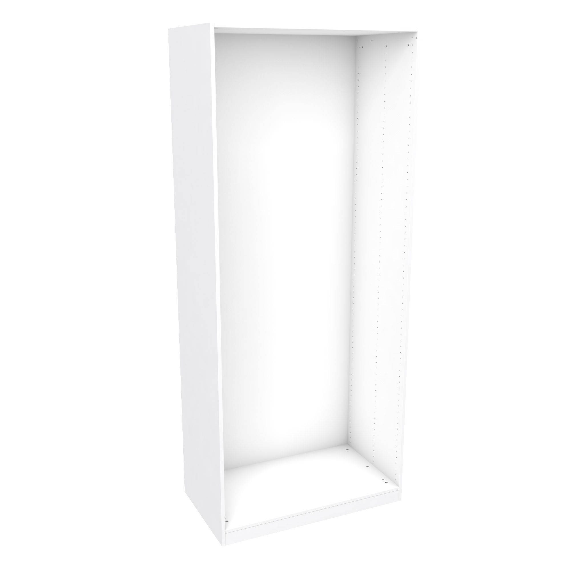 Darwin Modular White Tall Wardrobe Cabinet (h)2356mm (w)1000mm (d)566mm