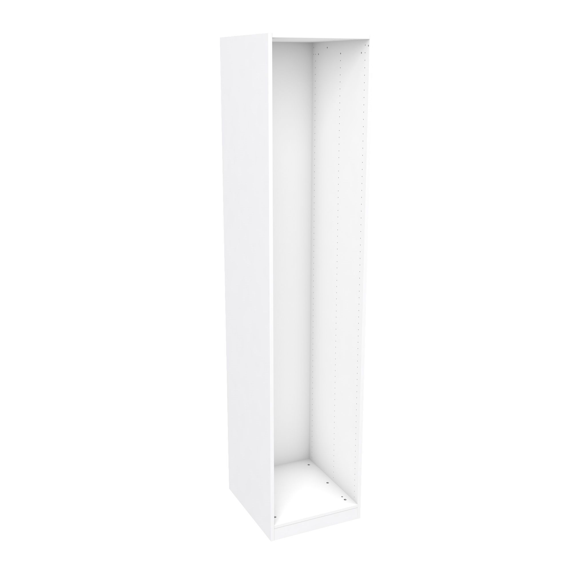Darwin Modular White Tall Wardrobe Cabinet (h)2356mm (w)500mm (d)566mm