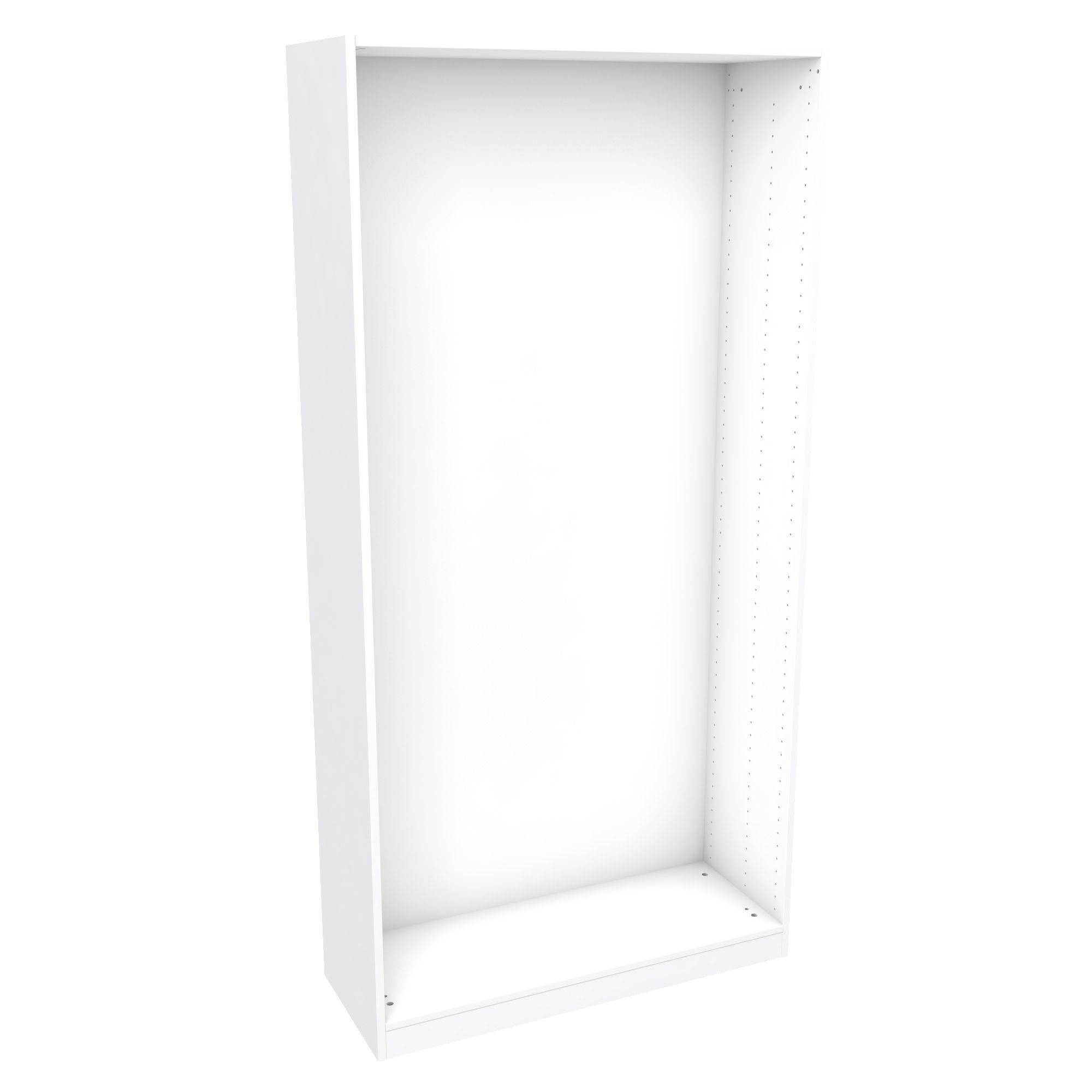 Darwin Modular White Wardrobe Cabinet (h)2004mm (w)1000mm (d)374mm