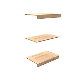 Perkin Natural Oak Top, Base & Shelf Pack