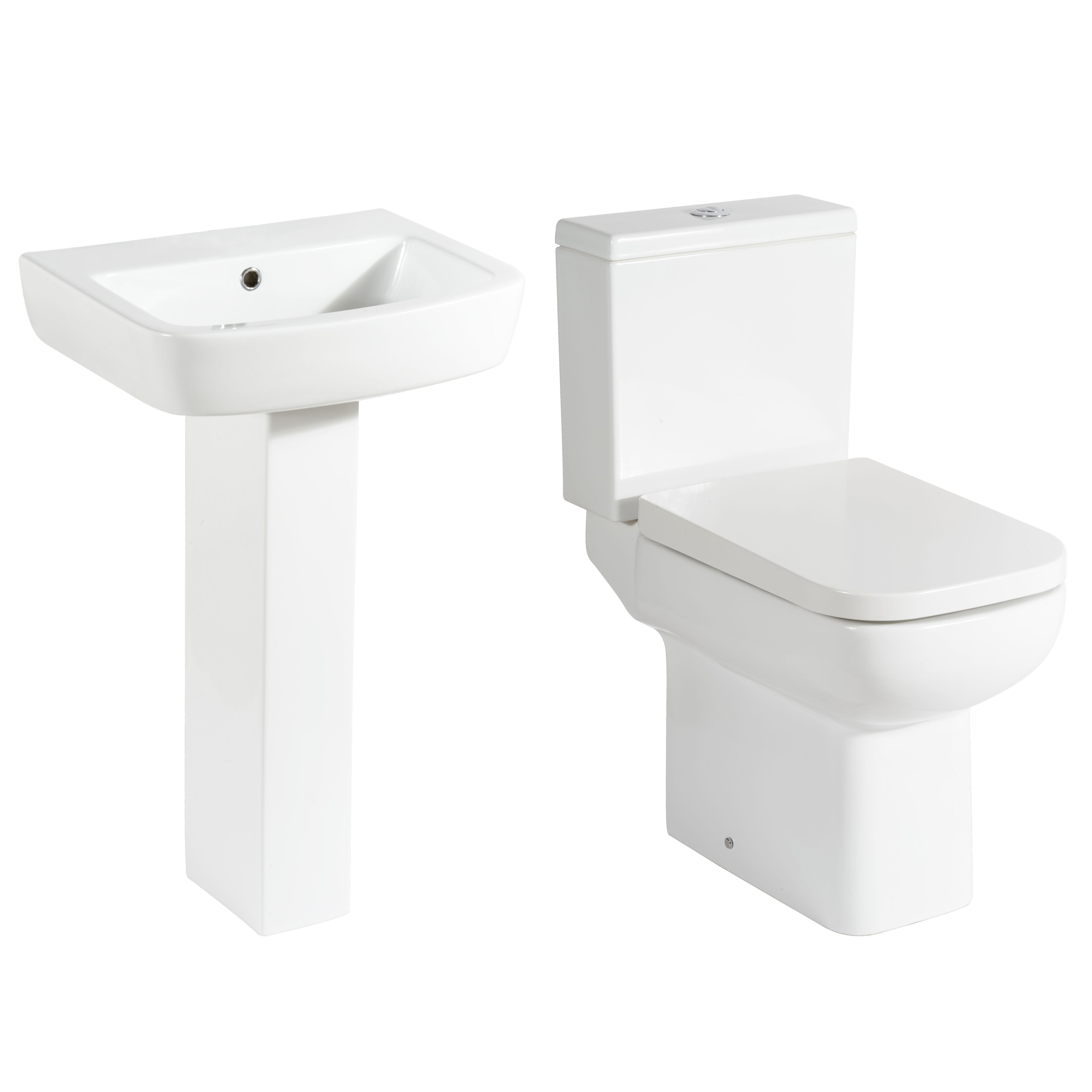 B and q cooke and lewis bathrooms - Cooke Lewis Fabienne Close Coupled Toilet Full Pedestal Basin Departments Diy At B Q
