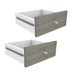 Form Konnect Grey 2 Drawer Set (W)322mm