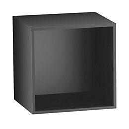Form Konnect Black 1 Cube Shelving Unit (H)352mm
