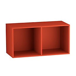 Form Konnect Red 2 Cube Shelving Unit (H)692mm
