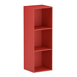 Form Konnect Red 3 Cube Shelving Unit (H)1032mm