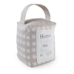 Home Is Where The Heart Is Grey Doorstop