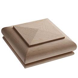 Hemlock Pyramid Newel Cap (L)110mm (H)20mm (W)110mm