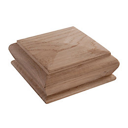 Oak Pyramid Newel Cap (L)120mm (H)50mm (W)120mm