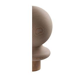 Hemlock Half Ball Newel Cap (L)132mm (H)95mm (W)80mm
