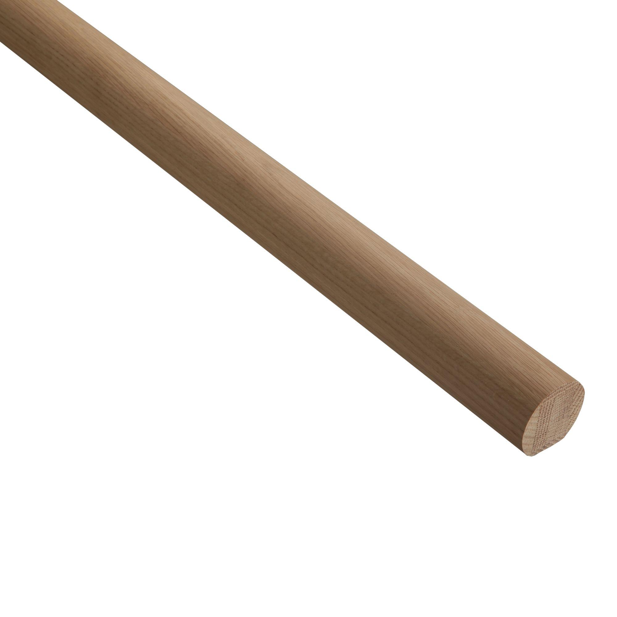 Lighting Basement Washroom Stairs: Axxys® Oak Handrail (L)4200