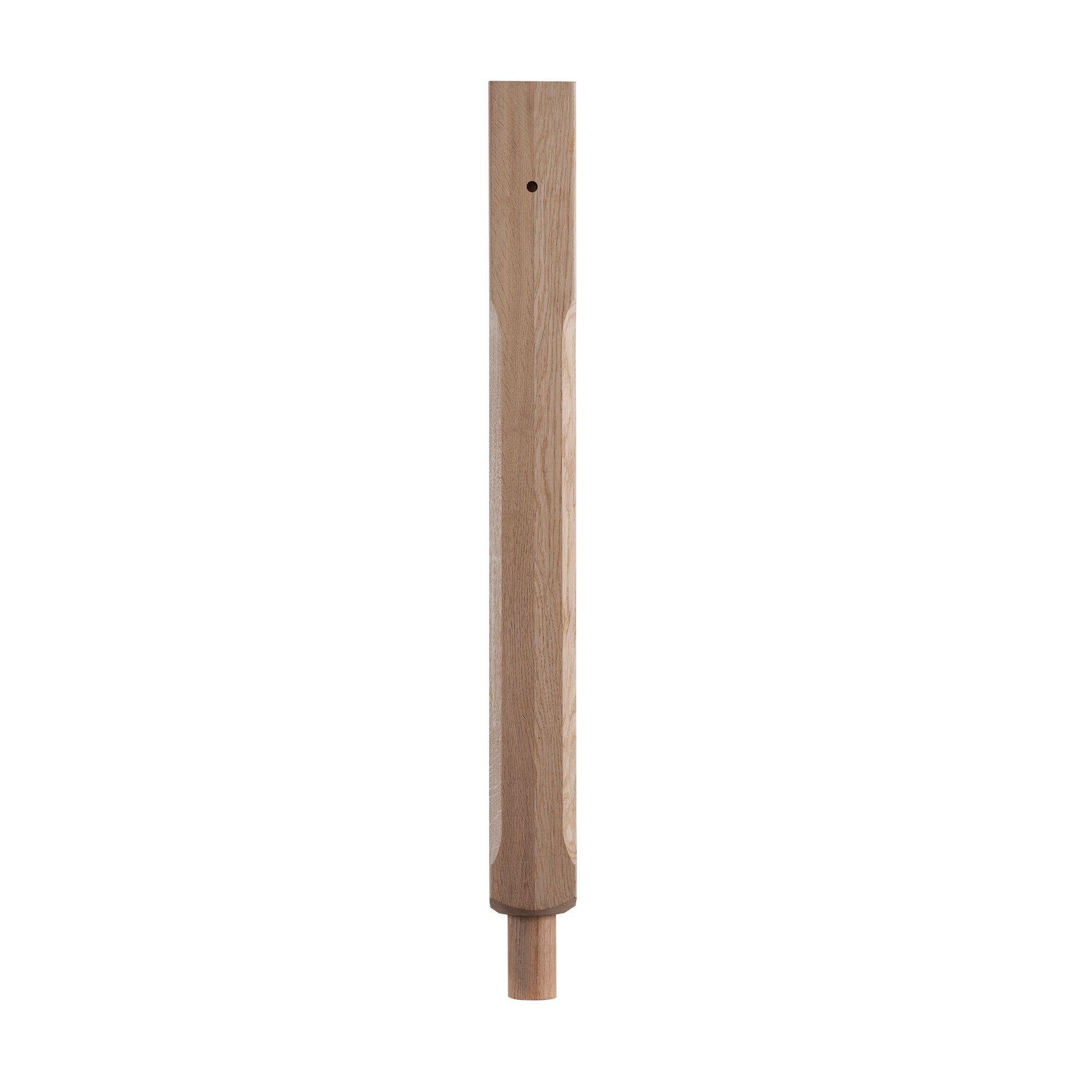 Oak Pre-drilled Stop Chamfer Half Newel Post (w)41mm (l)725mm