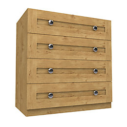 Darwin Oak Effect 4 Drawer Chest (H)1026mm (W)1000mm