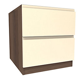 Darwin Handpicked Walnut Effect & Cream Bedside Cabinet