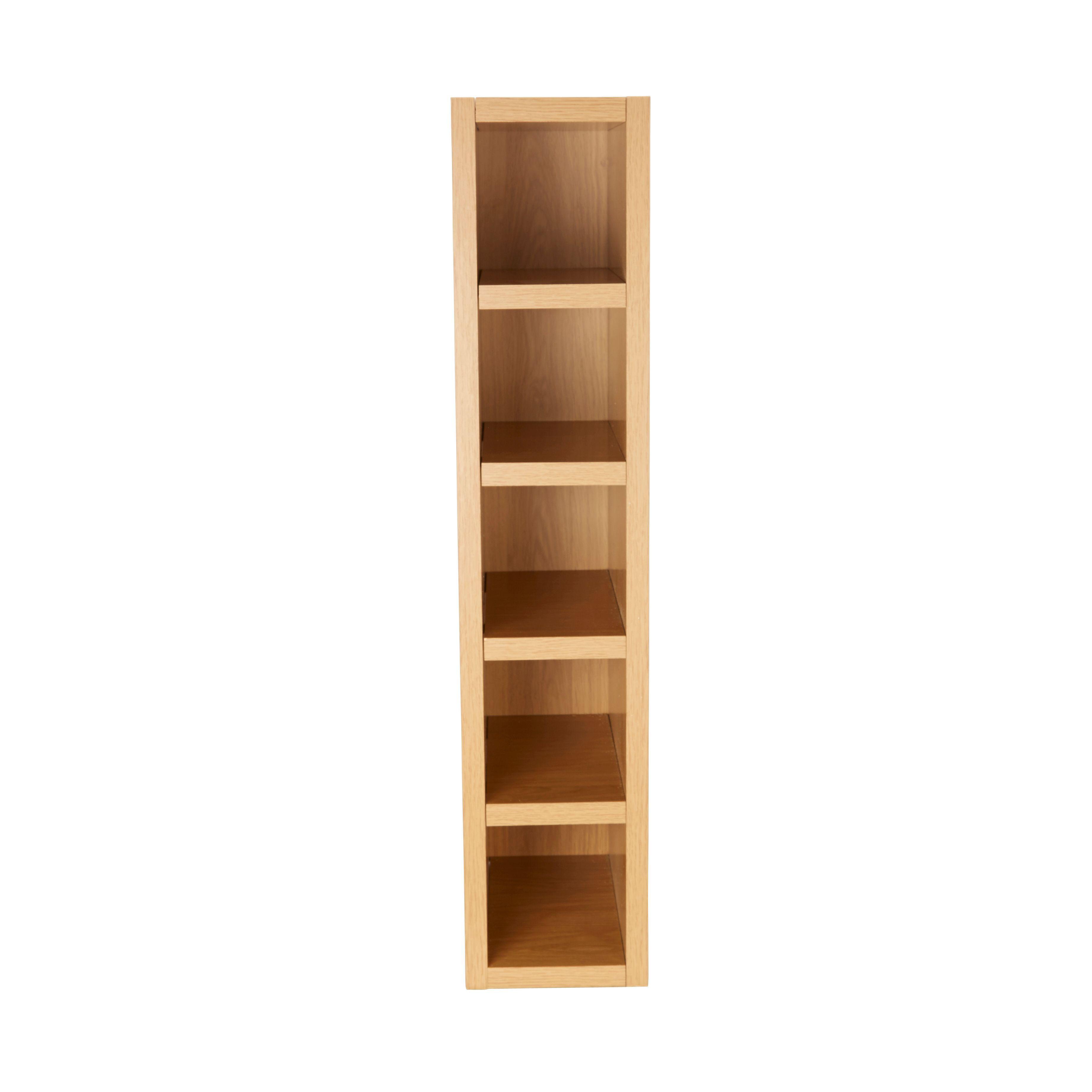 Cooke & Lewis Oak Effect Wine Rack Cabinet (W)150Mm