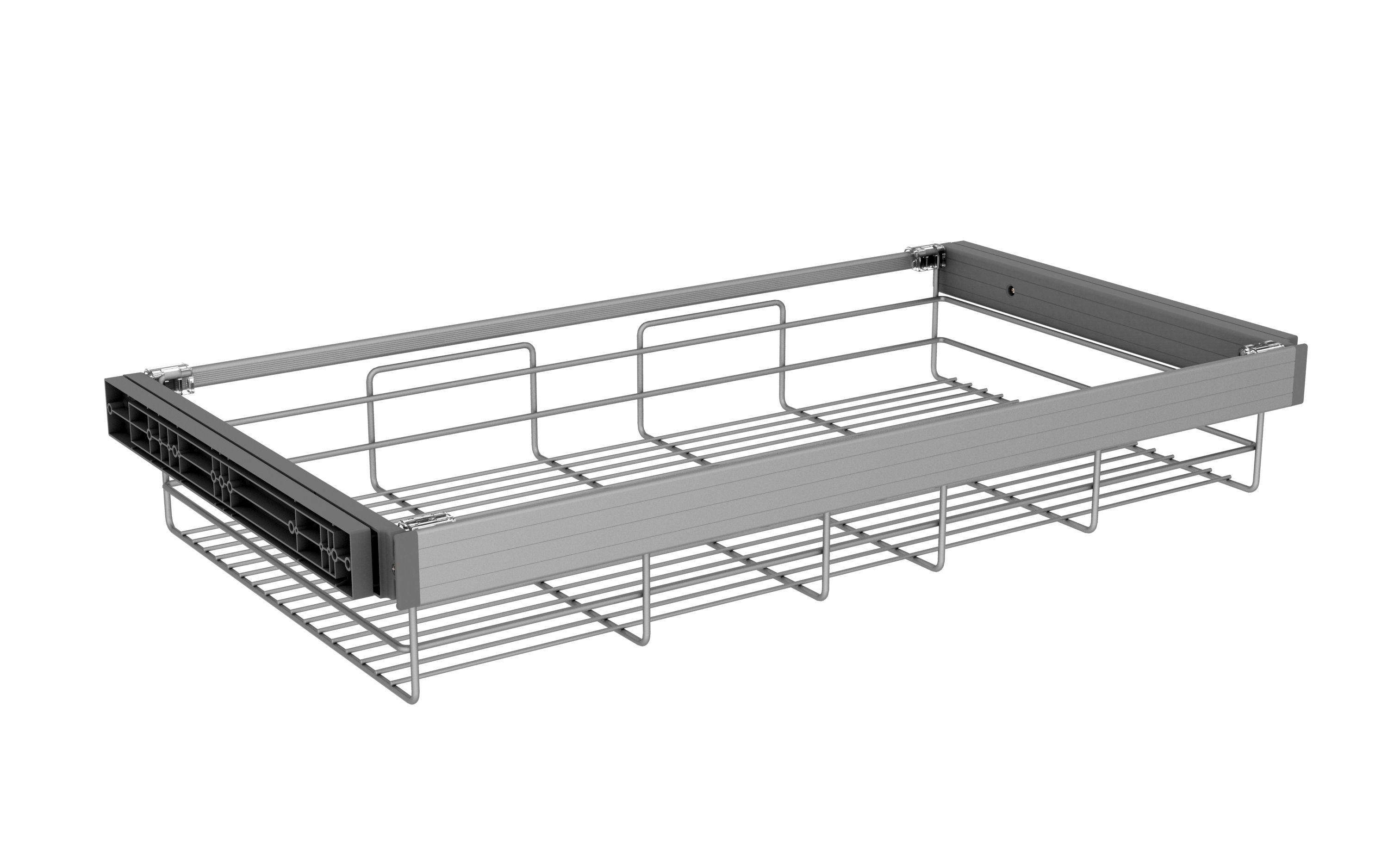 Darwin Silver & Epoxy Powder Coated Storage Basket (h)147mm (w)950mm (d)514mm