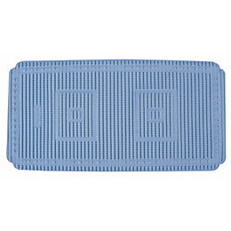 B&Q Chester Blue Ribbed PVC Foam Anti-Slip Bath