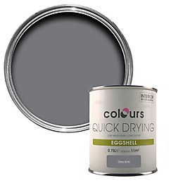Colours Quick Dry Grey Slate Eggshell Paint 750ml