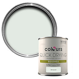 Colours Quick Drying Mint Secret Eggshell Wood &