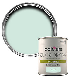 Colours Quick Dry Duck Egg Eggshell Wood &