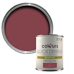 Colours Quick Drying Merlot Eggshell Wood & Metal