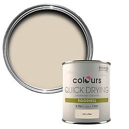 Colours Soft Coffee Eggshell Wood & Metal Paint