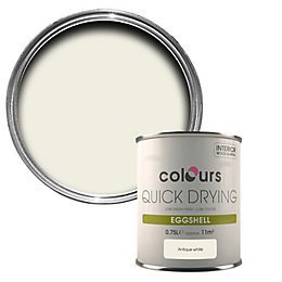 Colours Quick Drying Antique White Eggshell Wood &