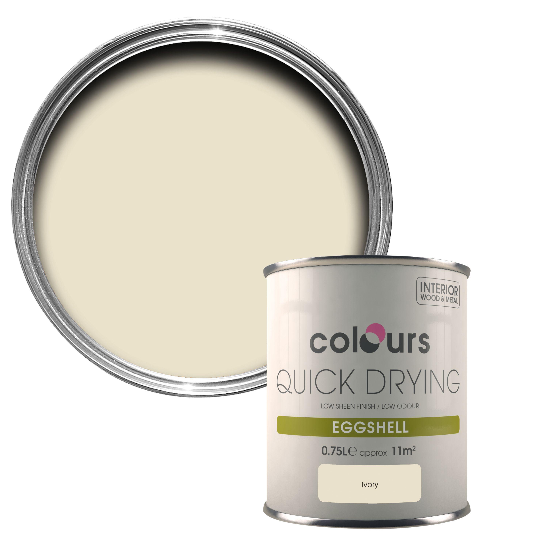 Colours Ivory Eggshell Wood & Metal Paint 750 Ml