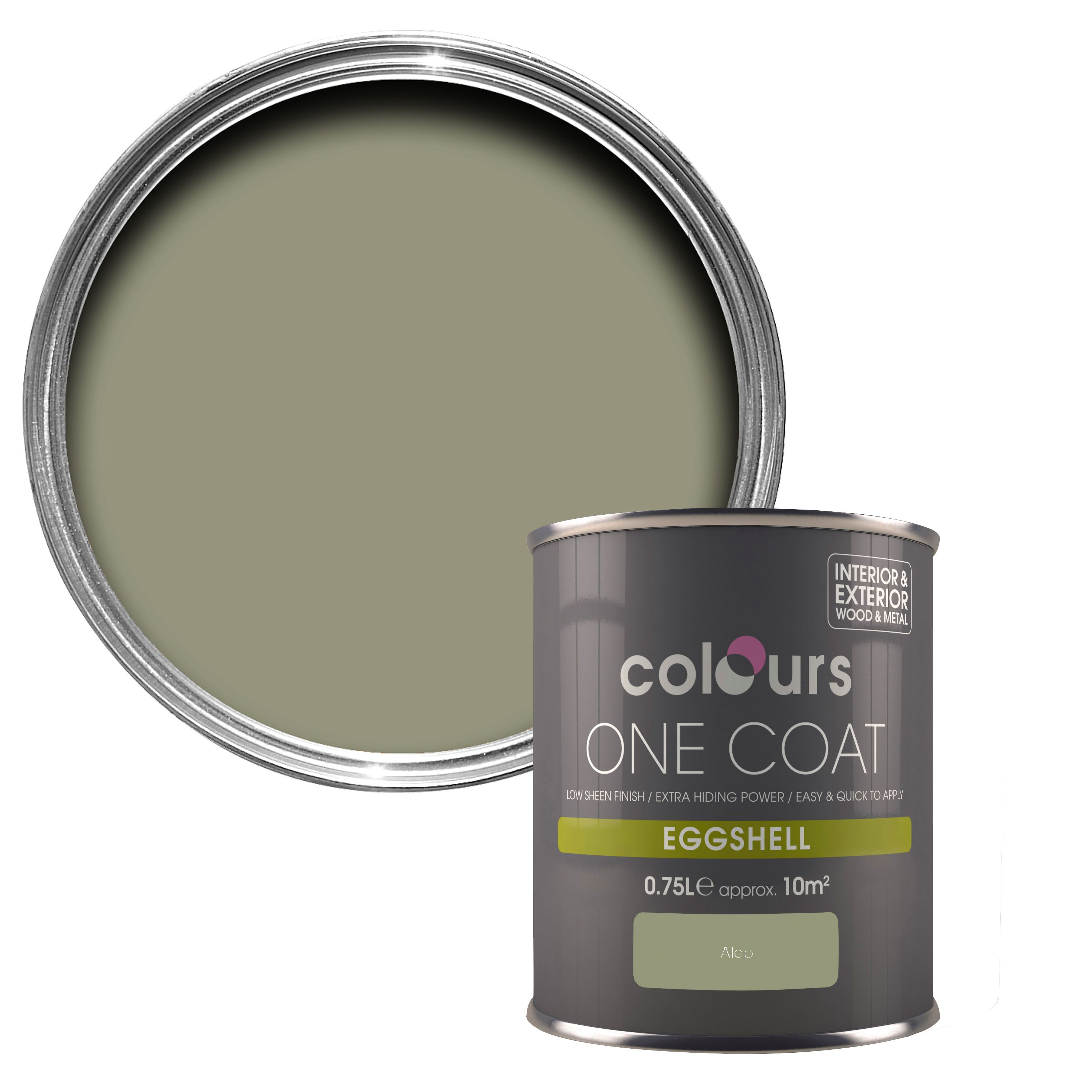 Colours One Coat Alep Eggshell Wood Metal Paint 750 Ml Departments Diy At B Q