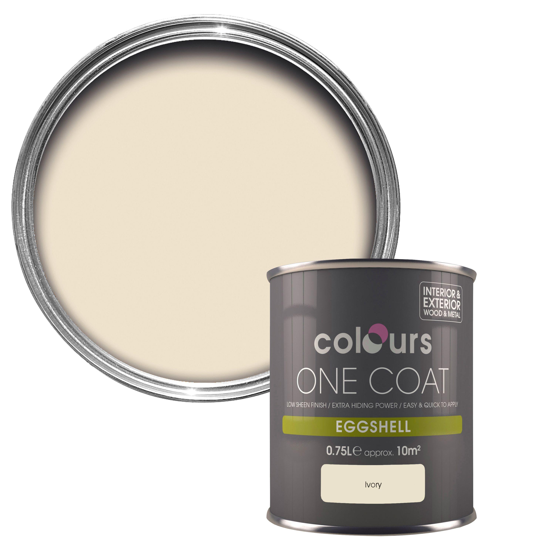 Colours One Coat Ivory Eggshell Wood & Metal Paint 750 Ml