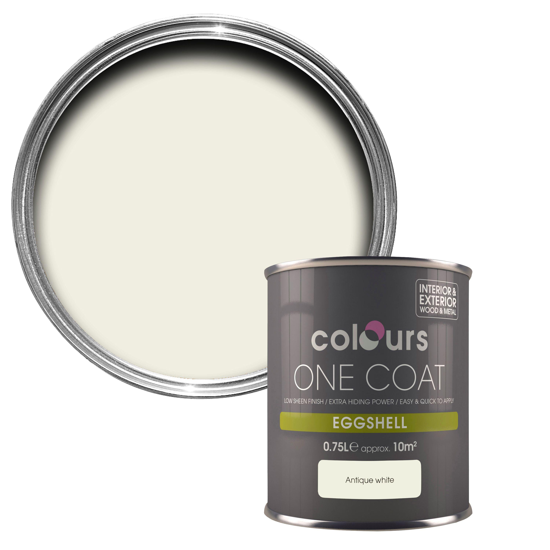 Colours One Coat Antique White Eggshell Wood & Metal Paint 750 Ml