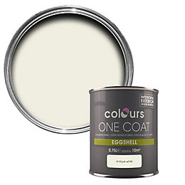 Colours One Coat Antique White Eggshell Paint 750ml