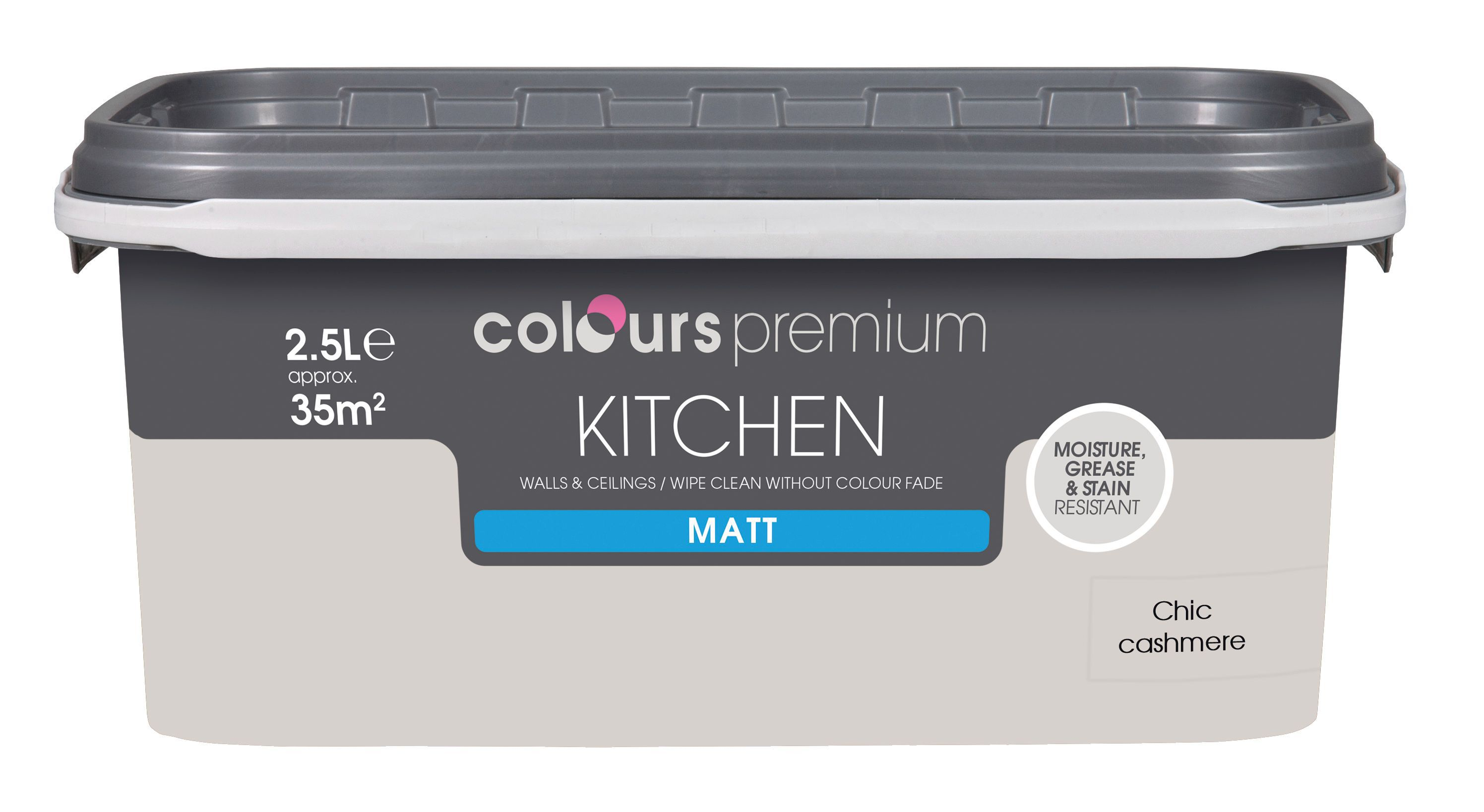 colours kitchen chic cashmere matt emulsion paint 2 5l