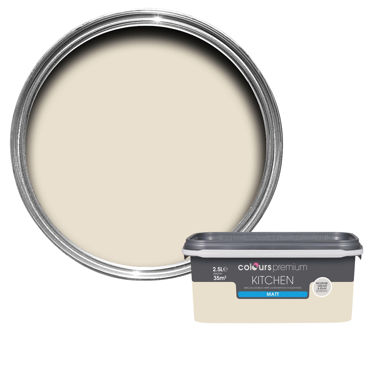 Colours Kitchen Ivory Matt Emulsion Paint 2.5l