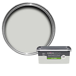 Colours Bathroom Grey Hints Soft Sheen Emulsion Paint