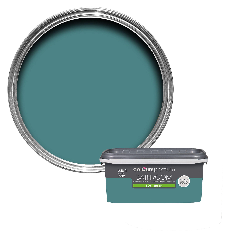 Colours Bathroom Barbados Blue Soft Sheen Emulsion Paint 2