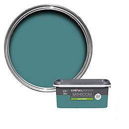 Colours Bathroom Barbados Blue Soft Sheen Emulsion Paint