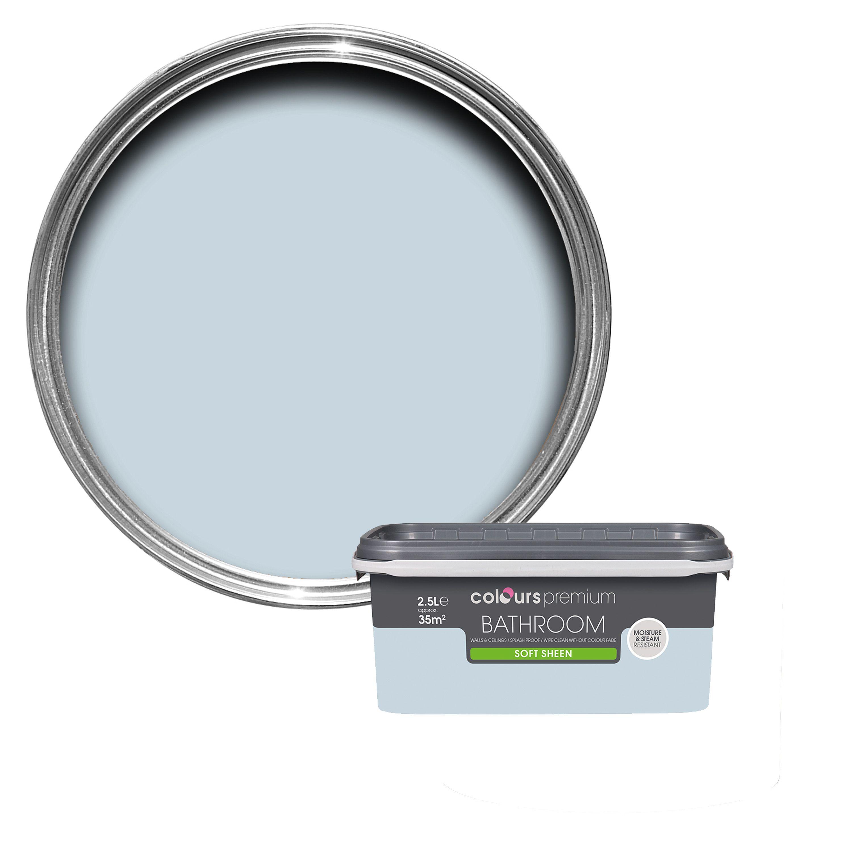 Colours Bathroom Oxygen Soft Sheen Emulsion Paint 2 5L