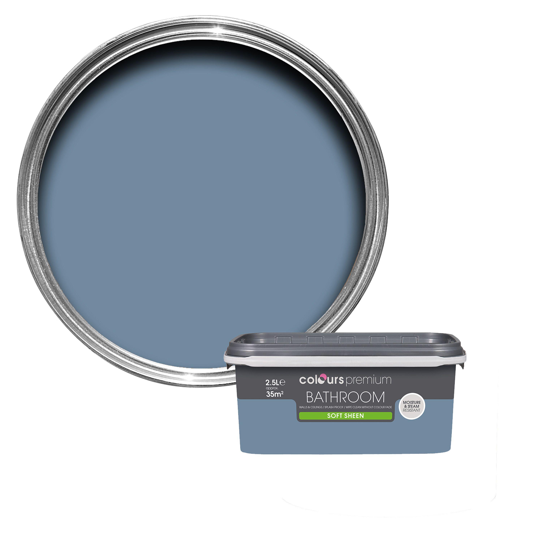 soft teal bedroom paint. Colours Bathroom Blue Thistle Soft Sheen Emulsion Paint 2.5l Teal Bedroom H